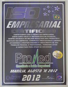Promed - Certificado Iso Empresarial 2012