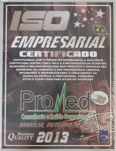 Promed - Certificado Iso Empresarial 2013