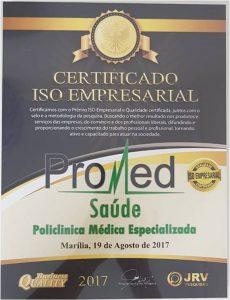 Promed - Certificado Iso Empresarial 2017